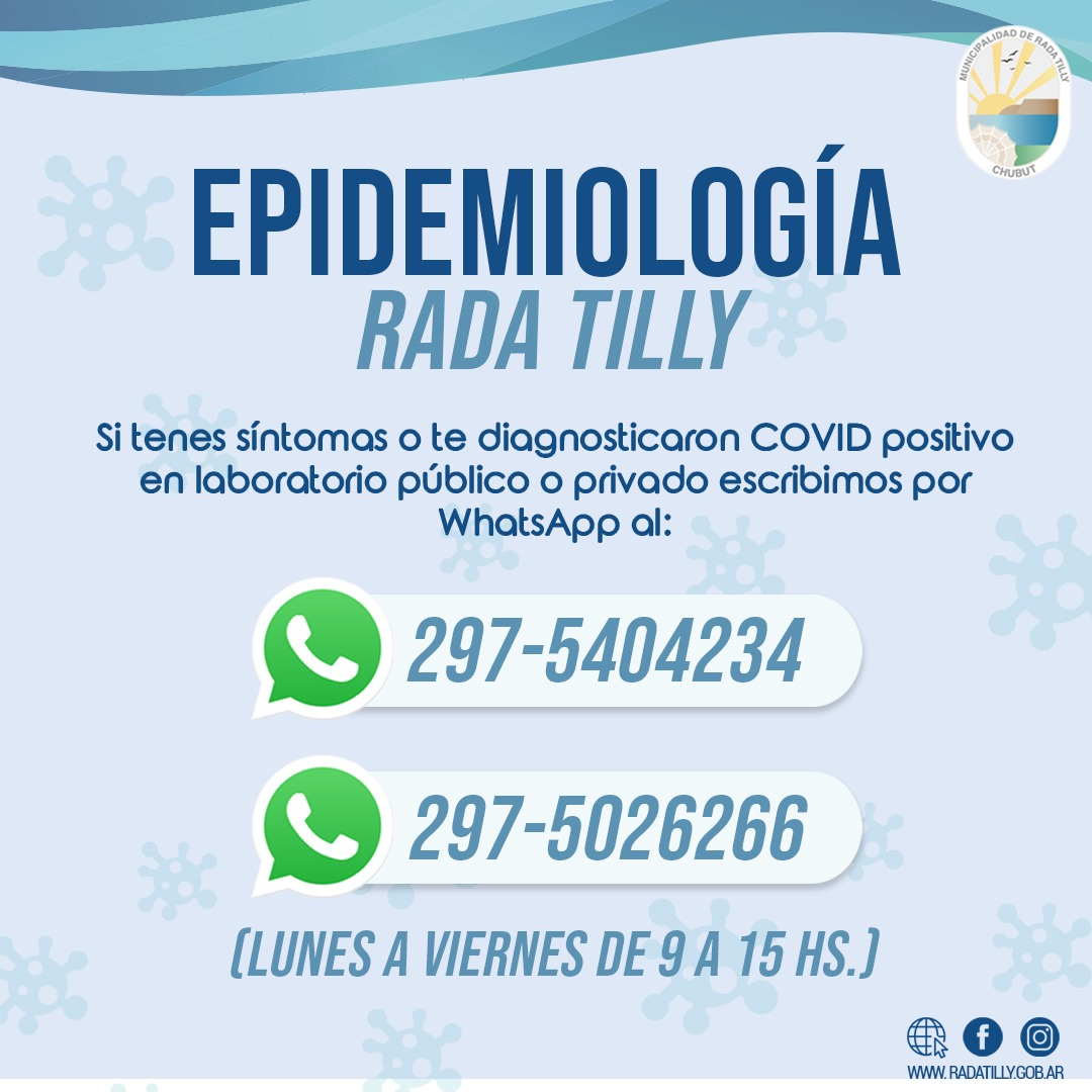 Epidemiología Rada Tilly - numeros